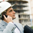 Royalty-Free Stock Photo: Foreman calling