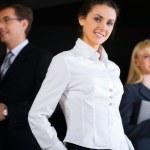 inteligentne biznes dama — Zdjęcie stockowe