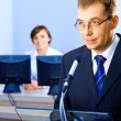 Stock Photo: Business speech