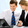 Business partners at work — Stock Photo