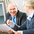 Business interaction - Foto Stock