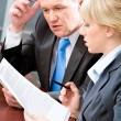 Discussing business point — Stock Photo