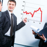 Business teaching — Stock Photo