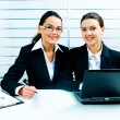 Business ladies at work — Stock Photo