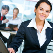 Woman in suit — Stock Photo