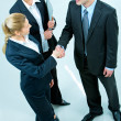 agreement business — Foto Stock