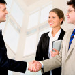 Businessmen's handshake — Stock Photo