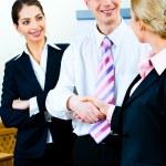 Handshake of business partners — Stock Photo #10717357