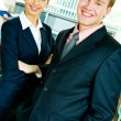 Smiling professionals — Stock Photo