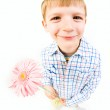 Boy with flower — Stock Photo #10718720