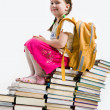Royalty-Free Stock Photo: Sitting on books