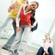 Cute students — Stock Photo