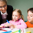 Teacher with children — Stock Photo #10718976