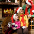 Three Santas — Stock Photo #10719091