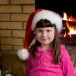 Little Santa girl — Foto Stock