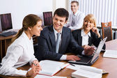 Business discuss the plan of work — Stock Photo