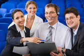 Positive business education — Stock Photo