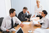 Meeting of colleagues — Stock Photo