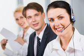Friendly customer support team — Stock Photo