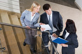 Image of business consulting during paperwork — Stock Photo