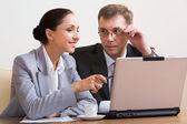 Grupo de negócios trabalhando em reunião — Foto Stock