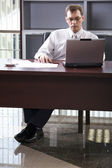 Concentrated working — Stock Photo