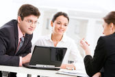 Portrait of business working together — Stock Photo