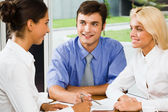 Business group at a meeting — Stock Photo