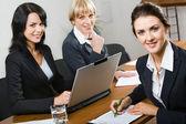 Three business women — Stock Photo