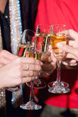 Toast with champagne — Stock Photo
