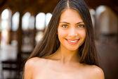 Charming brunette — Stock Photo