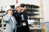 Showing new building — Stock Photo