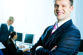 Successful business leader — Stock Photo