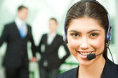 Consultant with headset — Stock Photo