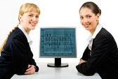 Two women — Stock Photo