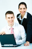 Two employees — Stock Photo
