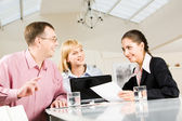 In the conference hall — Stock Photo