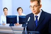 Business speech — Stock Photo