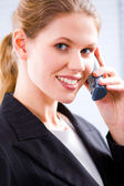 Speaking on the phone — Stock Photo