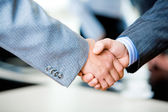 Handshake of businesspeople — Stok fotoğraf