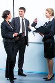 Explaining business-plan — Stock Photo