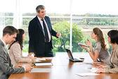 En reunión — Foto de Stock