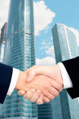Image of handshaking of business partners — Stock Photo