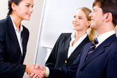 Handshake of partners — Stock Photo