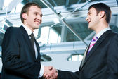 Male handshake — Stock Photo