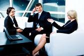 Business conversation — Stock Photo