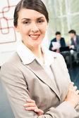 симпатичная деловая женщина — Стоковое фото