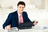 Successful manager — Stock Photo