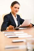 Confident secretary — Stock Photo