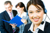 Beautiful assistant — Stock Photo